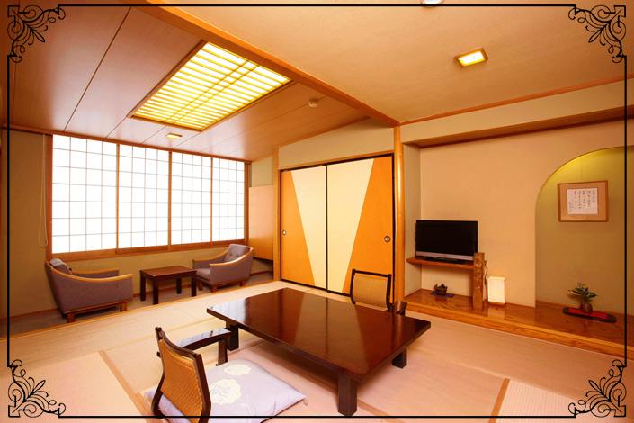 湯畑が見えるお部屋・和室10畳(本館の一部客室・25室限定)