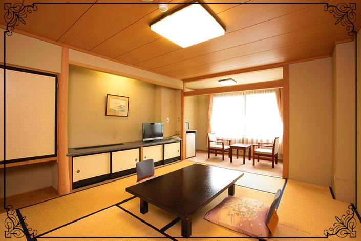 西館通常客室・10畳和室(もっとも離れた西館)